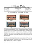 The 22 Box - Volume 27 Number 1
