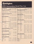 1991 Rem-DuPont 1 Jan Retail Price List